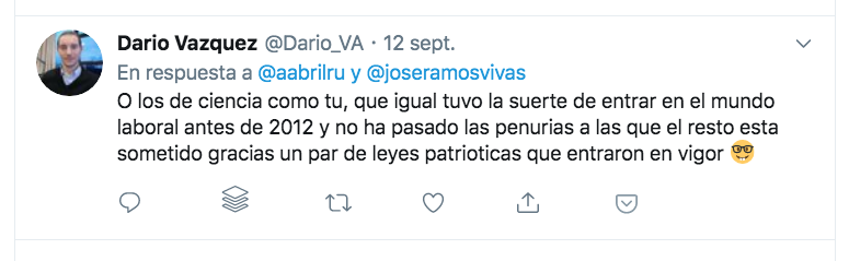 Tuit de Dario Vázquez