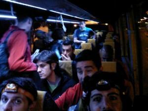 IX Travesía resistencia Almería, 2011 - en el autobús camino de Tabernas