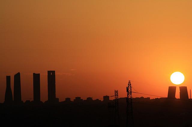 Madrid despierta 7 - 5 de agosto, 2009 desde Pozuelo de Alarcón - Foto vía flickr aabrilru