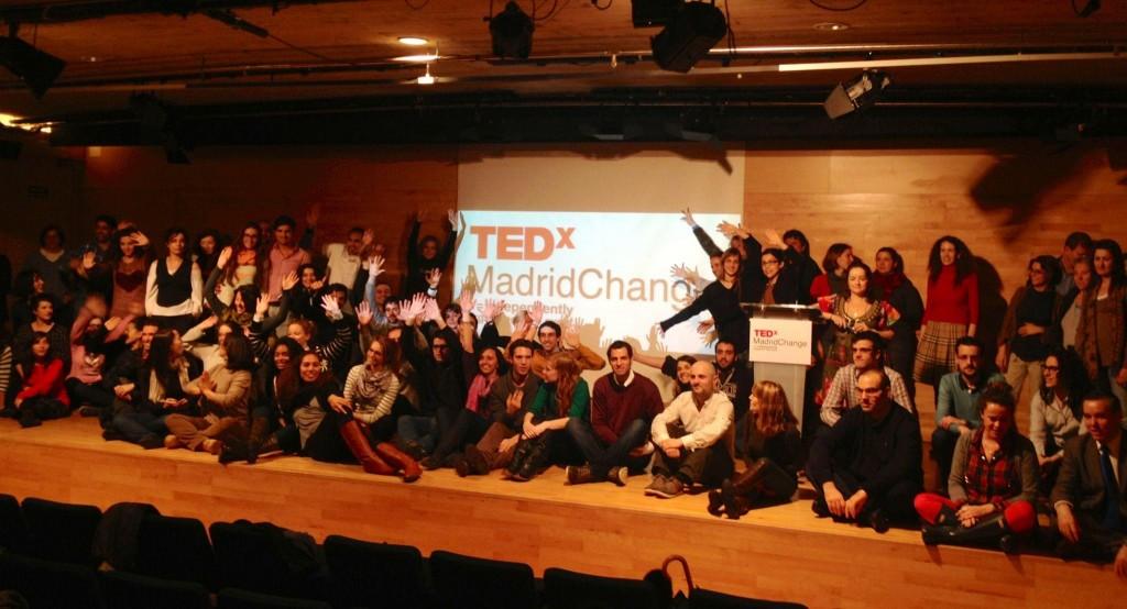 Foto de familia del TEDxMadridChange 2013